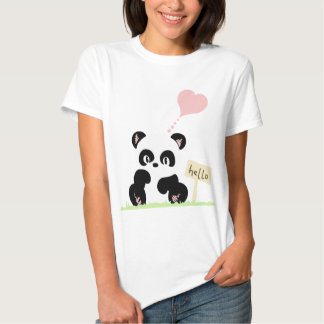 Panda mignon tee shirts
