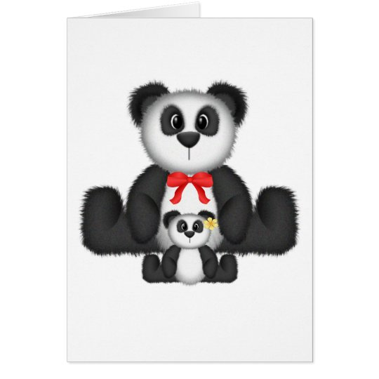Panda Mom and Baby Card