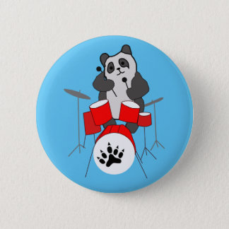 panda musician 2 inch round button