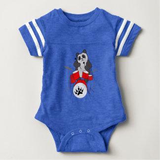 panda musician baby bodysuit