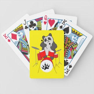 panda musician bicycle playing cards