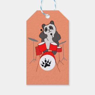 panda musician gift tags