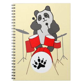 panda musician notebook