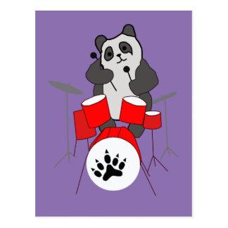 panda musician postcard