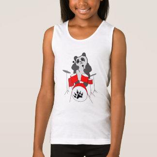 panda musician tank top