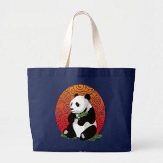 Panda on theHorizon Large Tote Bag