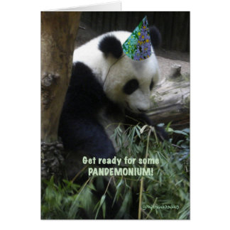 Panda pandemonium birthday party invitation! card