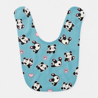 Panda pattern bib