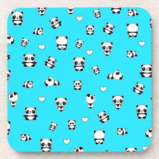 Panda pattern coaster