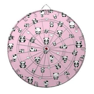 Panda pattern dartboard