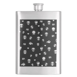 Panda pattern hip flask