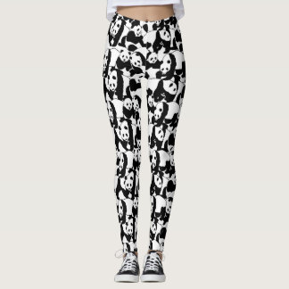Panda pattern leggings