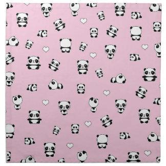 Panda pattern napkin