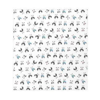 Panda pattern notepad
