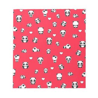 Panda pattern notepad