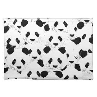 Panda pattern placemat