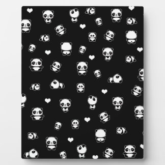 Panda pattern plaque
