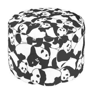 Panda pattern pouf