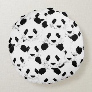Panda pattern round pillow