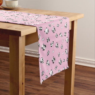 Panda pattern short table runner