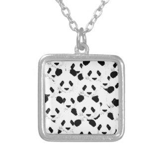 Panda pattern silver plated necklace