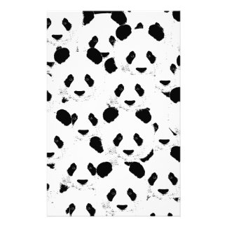 Panda pattern stationery