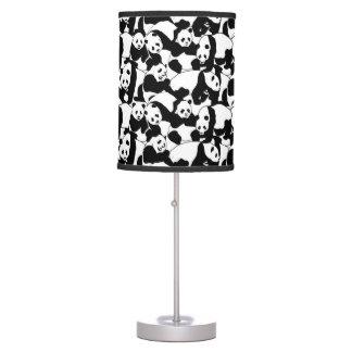 Panda pattern table lamp