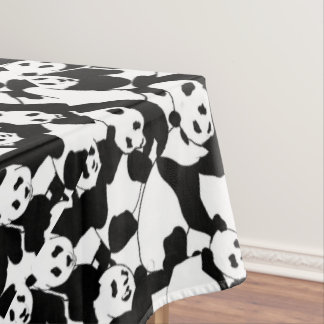 Panda pattern tablecloth