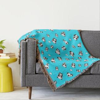 Panda pattern throw blanket