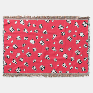 Panda pattern throw blanket
