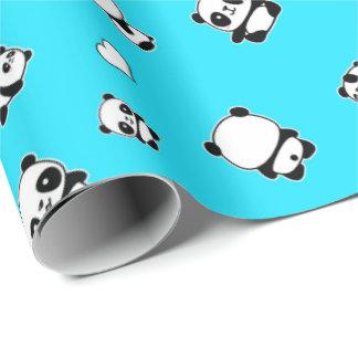 Panda pattern wrapping paper