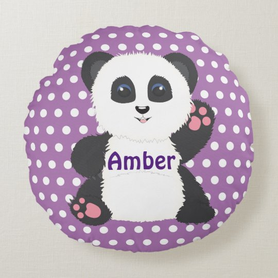 Panda pillow for nursery or kids room