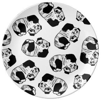 "Panda Play 10.75"" Decorative Porcelain Plate"