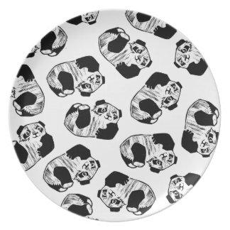 Panda Play Melamine Plate