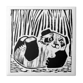 "Panda Play Small (4.25"" x 4.25"") Ceramic Tile"