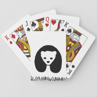 Panda playing cards, standard index faces poker deck