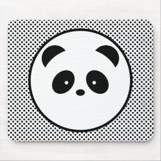 Panda polka dot mouse pad