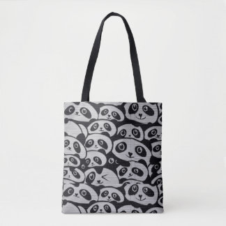 Panda Print Collage Tote bag
