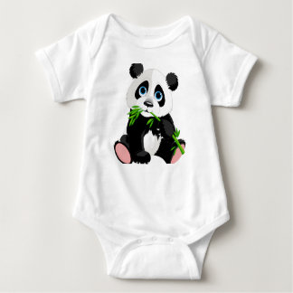 Panda Printed Baby Jersey Bodysuit