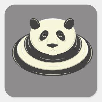 Panda Puddle Square Sticker