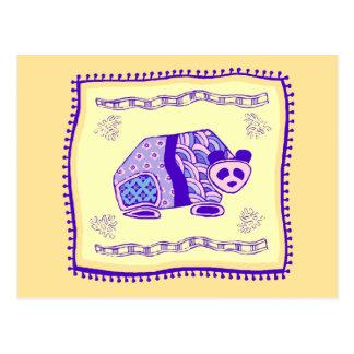 Panda Quilt Postcard