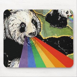 panda rainbow mouse pad