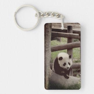 Panda  - Retro Style Photograph Keychain