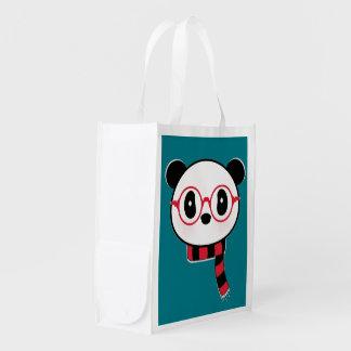 Panda Reuse Shopping Tote Bag. Leon The Panda Bear