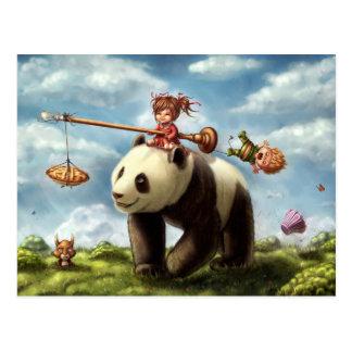Panda Ride Postcard