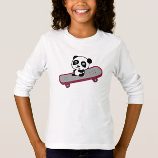 Panda riding on skateboard T-Shirt