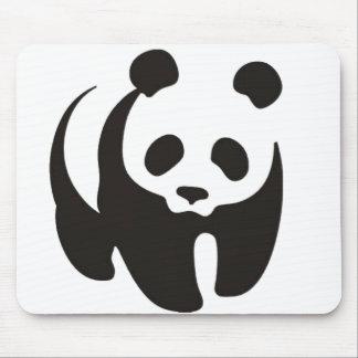 Panda Silhouette Outline Mousepad