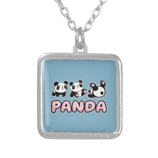 Panda Silver Plated Necklace