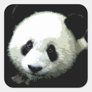 Panda Square Sticker