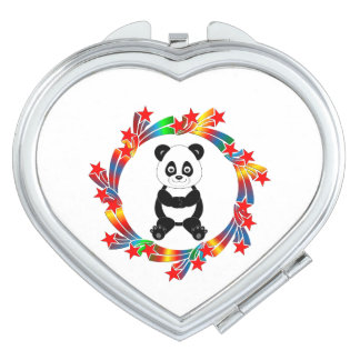 Panda Stars Compact Mirrors